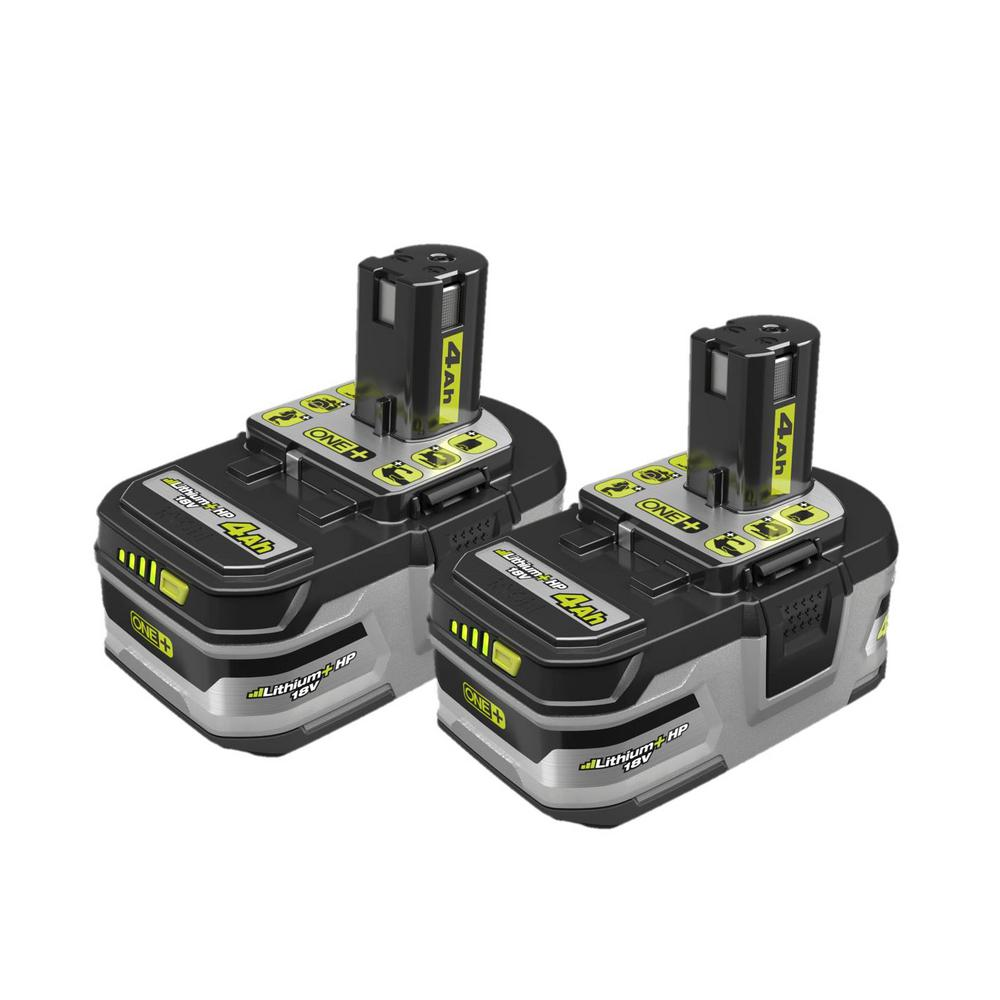 RYOBI 18-Volt ONE+ Lithium-Ion LITHIUM+ HP 4.0 Ah High Capacity Battery (2-Pack)