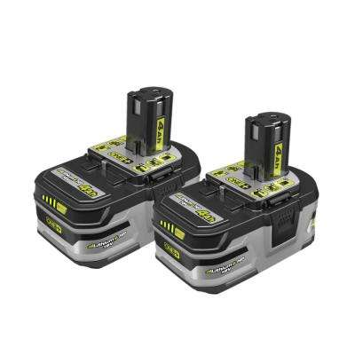 18-Volt ONE+ Lithium-Ion LITHIUM+ HP 4.0 Ah High Capacity Battery (2-Pack)
