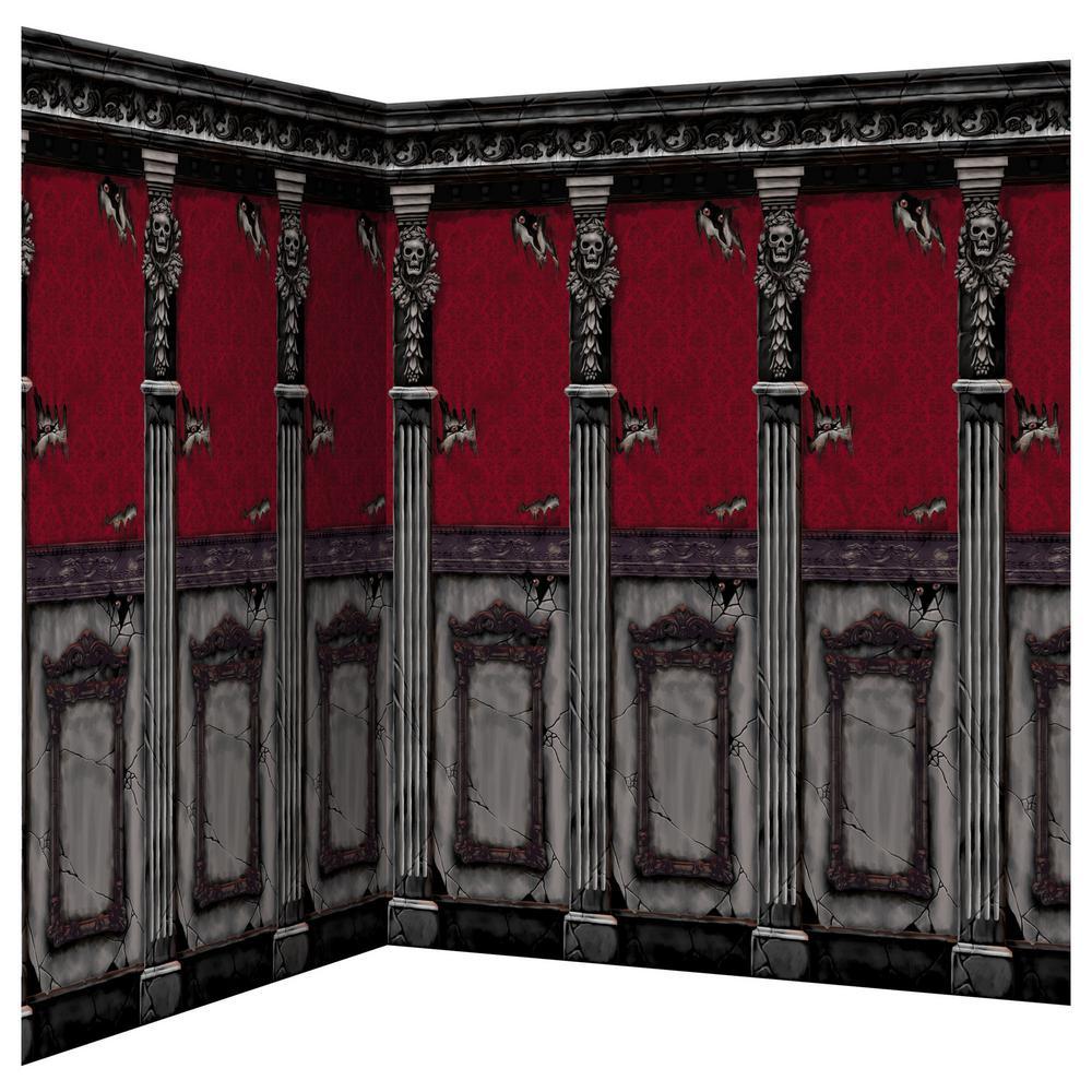 Amscan 48 In. Halloween Gothic Mansion Scene Setter Room