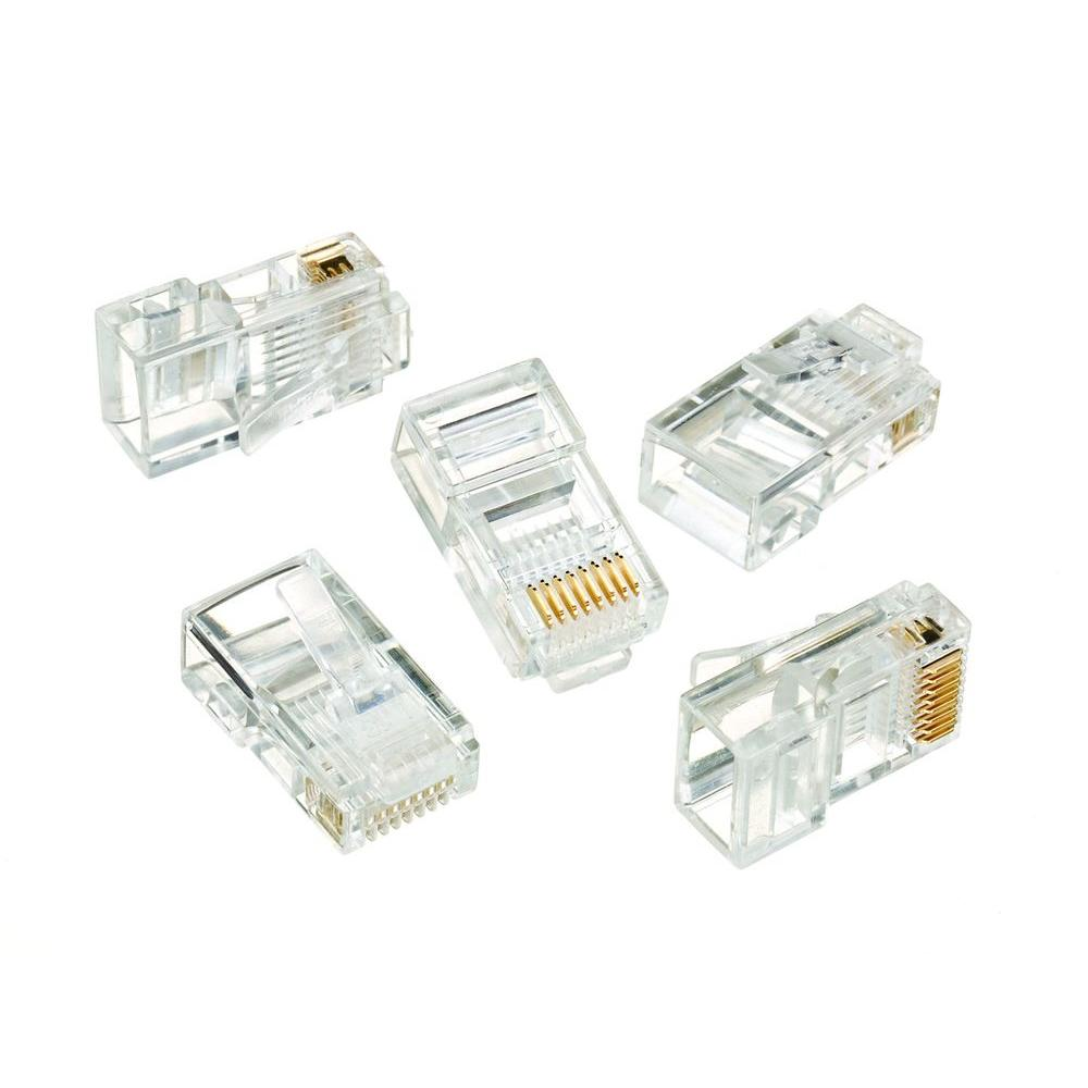 rj-45 8-position 8-contact category 5e modular plugs (50 per pack)