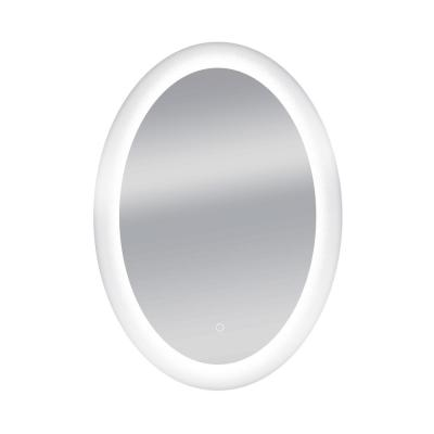 Royal 24 in. W x 34 in. H Frameless Oval LED Light Bathroom Vanity Mirror in Clear