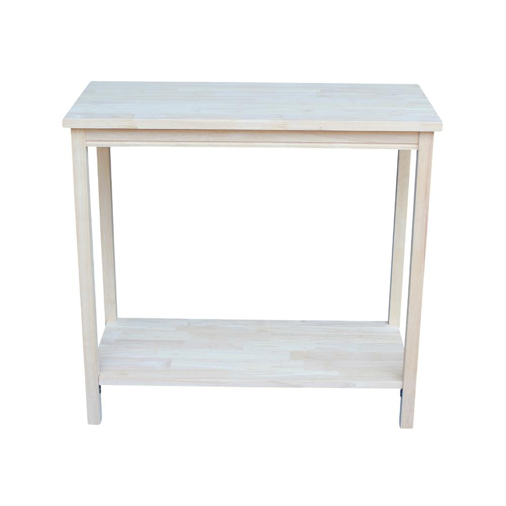 International Concepts Unfinished Bench Be 1: International Concepts Portman Unfinished Console Table-OT