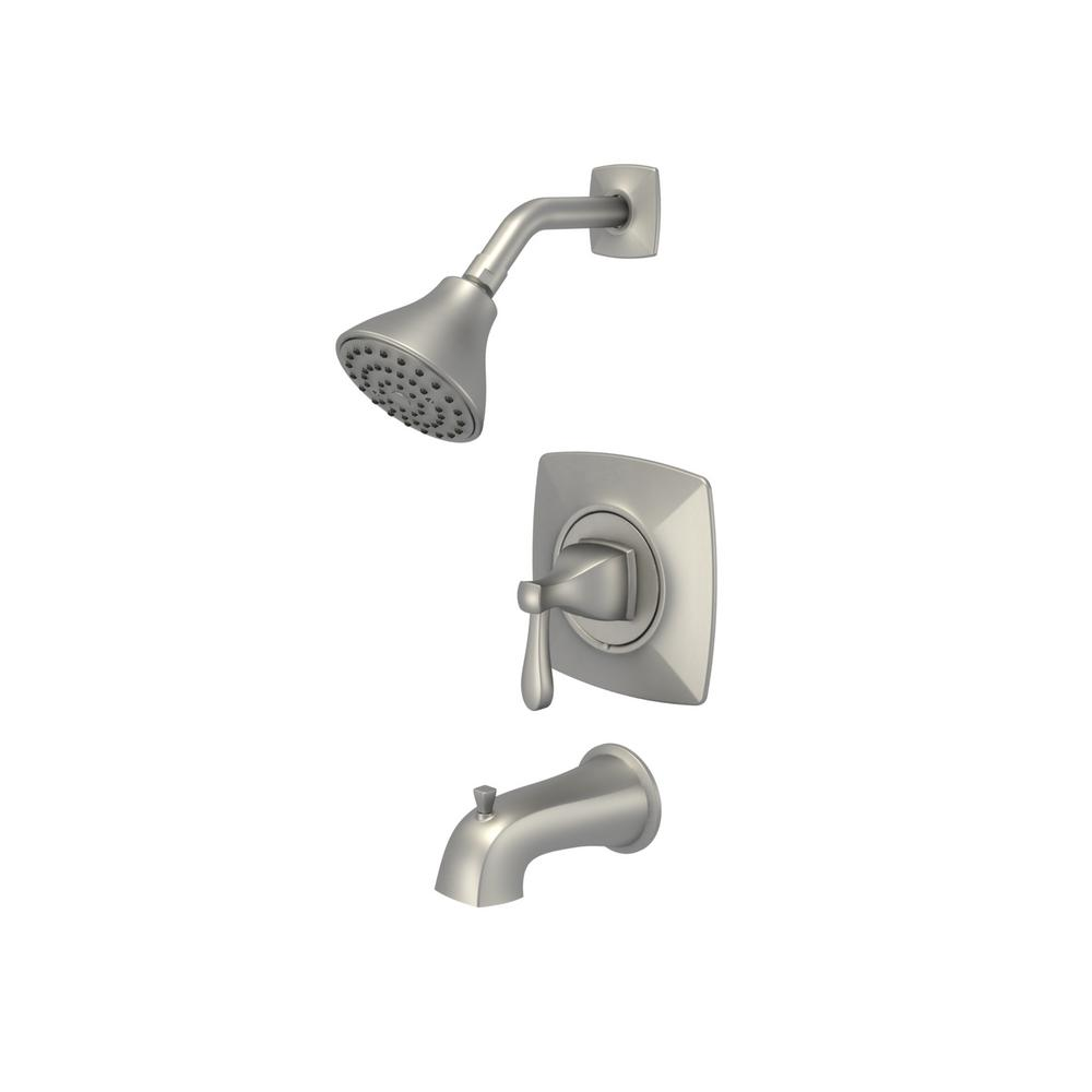 Milner Pressure Balanced Single-Handle 1-Spray Tub and Shower Faucet in Brushed