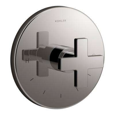 Composed 1-Handle Thermostatic Valve Trim Kit in Titanium (Valve Not Included)