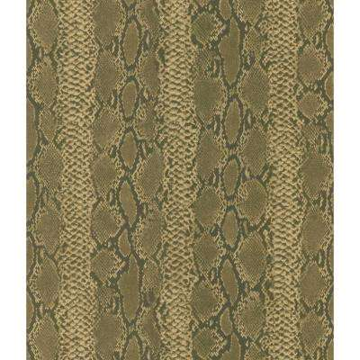 Brown Python Snake Skin Wallpaper Sample
