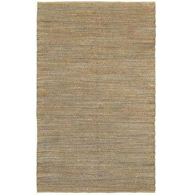 Natural Fiber Brown/Gray Rectangle 9 ft. x 12 ft. Plush Indoor Area Rug