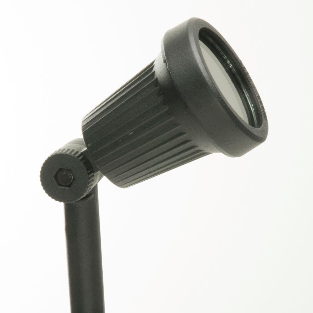 Low Voltage 20-Watt Black Halogen Flood Light
