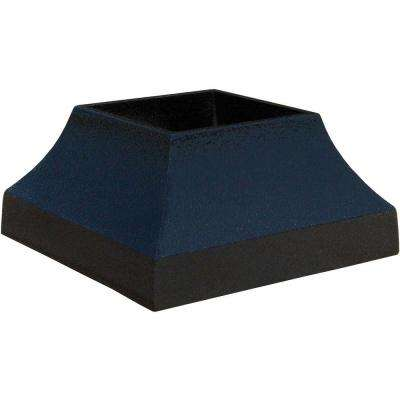 3 in. x 3 in. Textured Black Aluminum Decorative Base Post Cover