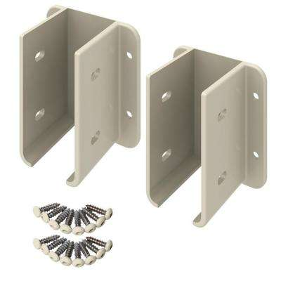 Tan Vinyl Fence Bracket Kit
