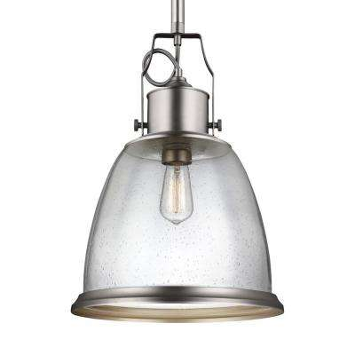 Hobson 1-Light Satin Nickel Pendant