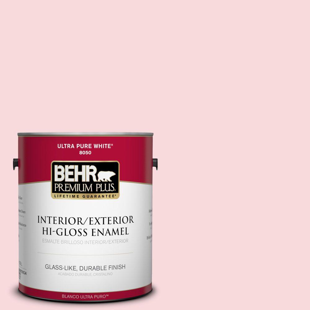 1-gal. #130C-1 Powdered Blush Hi-Gloss Enamel Interior/Exterior Paint