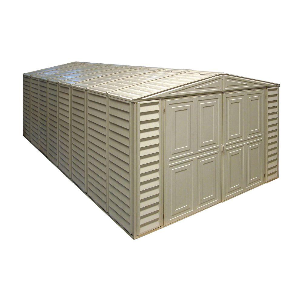 Duramax Building Products 10 ft. x 21 ft. Vinyl Garage with Foundation and Window-01214 - The ...