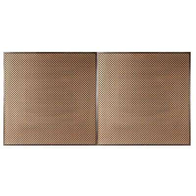 Kingsbridge 2 ft. x 4 ft. Lay-in or Glue-up Ceiling Tile in Antique Gold (80 sq. ft. / case)