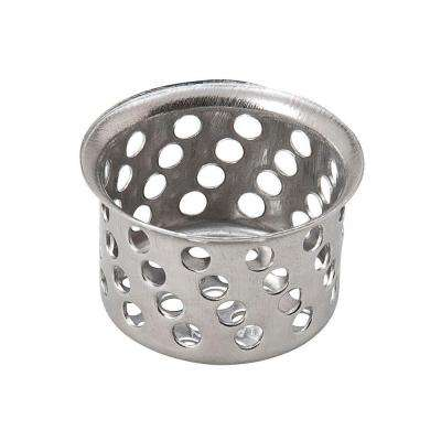 1-1/32 in. Crumb Cup Basket Strainer without Post in Chrome Finish