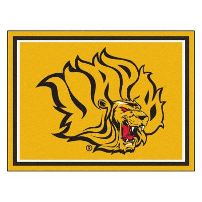 NCAA University of Arkansas-Pine Bluff Gold 8 ft. x 10 ft. Indoor Area Rug