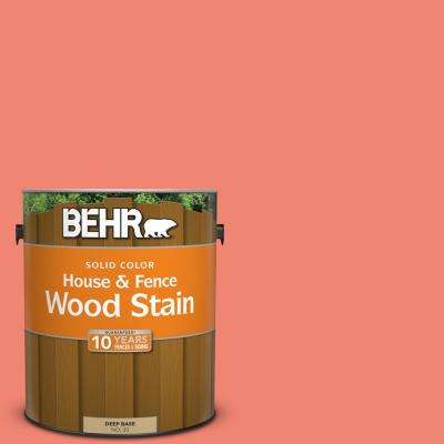 1 gal. #T16-07 Coralette Solid Color House and Fence Exterior Wood Stain