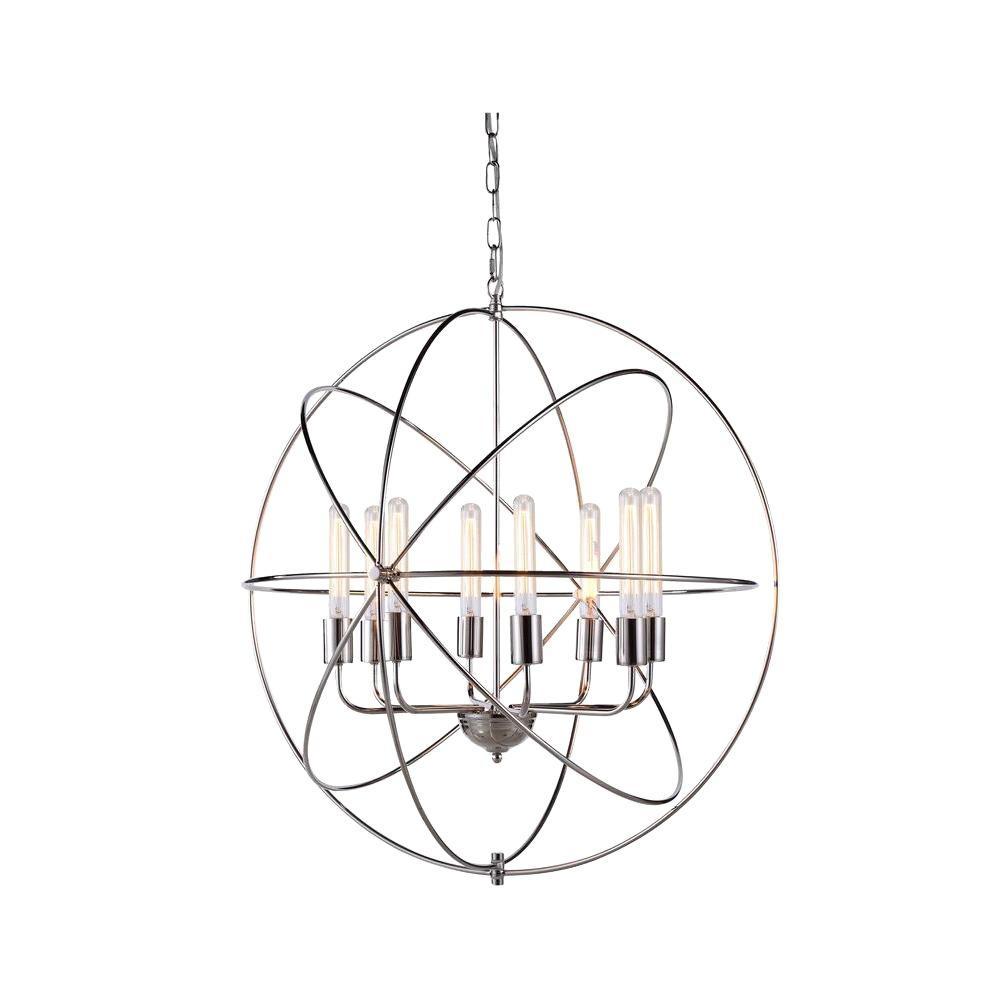 Vienna 8-Light Polished Nickel Pendant Lamp