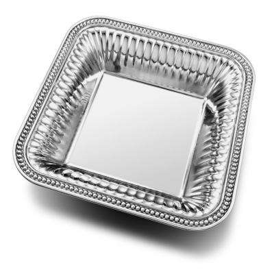Flutes and Pearls 80 oz. Medium Square Serving Bowl