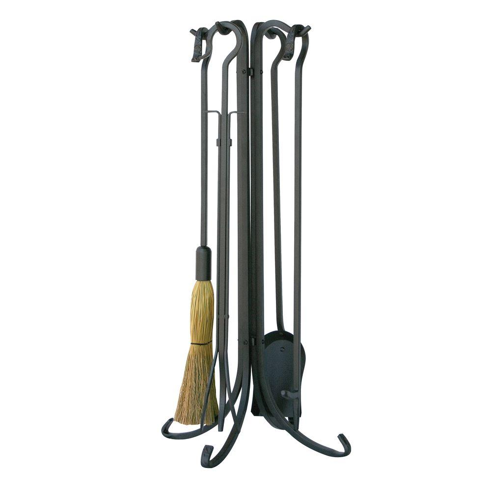 uniflame fireplace. UniFlame Olde World Iron 5 Piece Fireplace Tool Set with Crook  Handles F 1181 The Home Depot