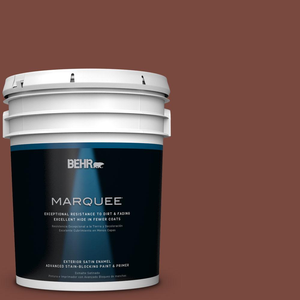 BEHR MARQUEE 5-gal. #S150-7 Fire Roasted Satin Enamel Exterior Paint
