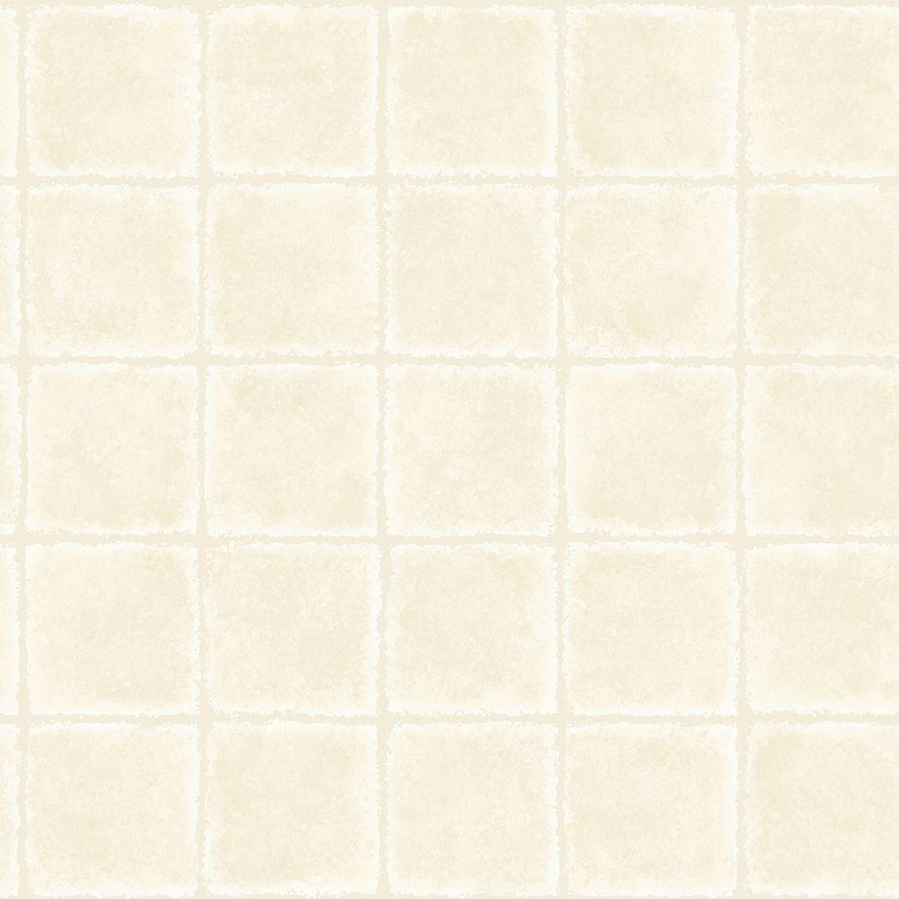 Chesapeake Gold Leaf Grey Tile Texture Wallpaper Sample MEA79031SAM
