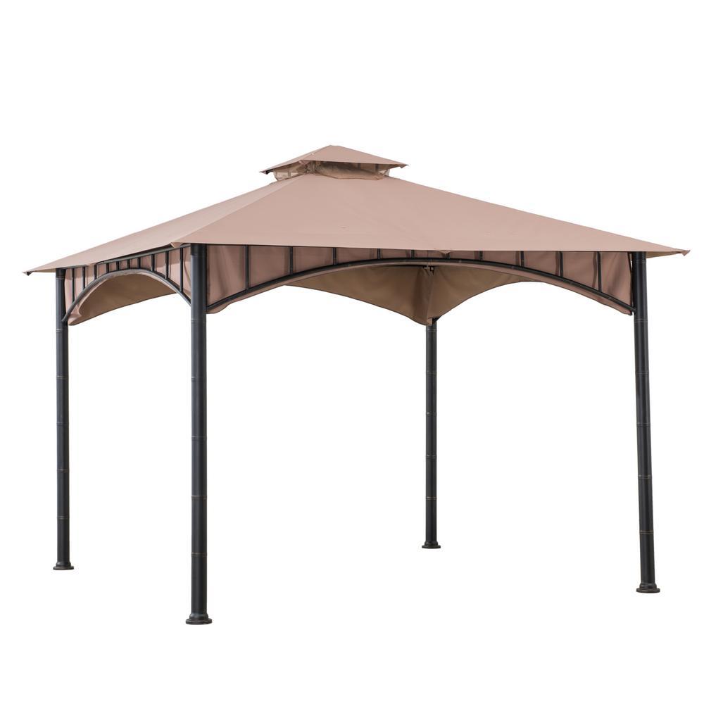 Rosedale 10 ft. x 10 ft. 2-Tier Bamboo Steel Frame Gazebo