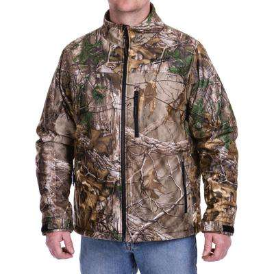 c05def17edc Large M12 12-Volt Lithium-Ion Cordless Realtree Xtra Heated Jacket Kit