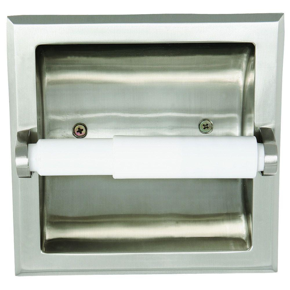 Millbridge Recessed Toilet Paper Holder in Satin Nickel