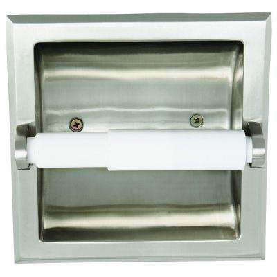 Millbridge Recessed Toilet Paper Holder in Satin Nickel