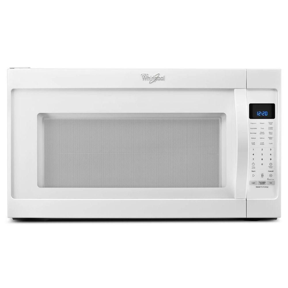 Whirlpool 2 0 Cu Ft Over The Range Microwave In Stainless Steel With Sensor Cooking Wmh53520cs Home Depot