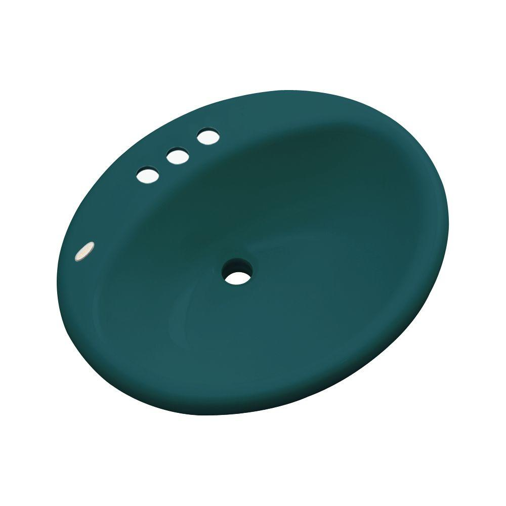 Bayfield Drop-In Bathroom Sink in Teal