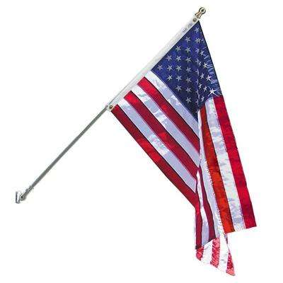 Estate 3 ft. x 5 ft. Nylon U.S. Flag with 6 ft. Spinning Flagpole and Fasteners