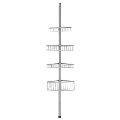 York Tension-Pole Caddy in Powder Coated Silver