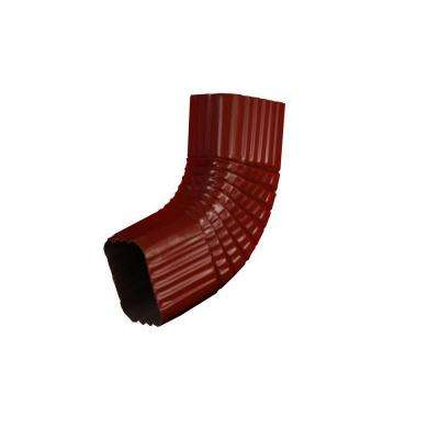 3 in. x 4 in. Red Aluminum Downspout B Elbow