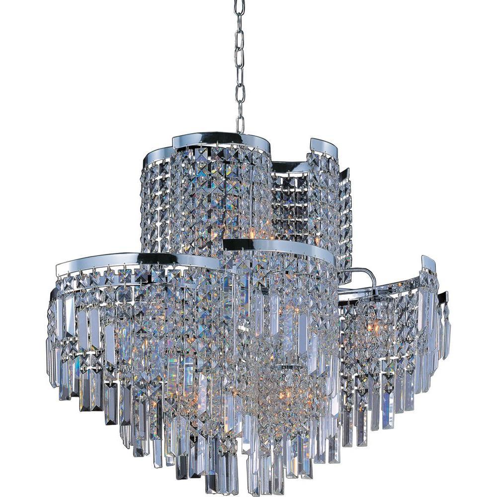 Standard chrome art deco lighting the home depot belvedere 19 light polished chrome single pendant aloadofball Gallery