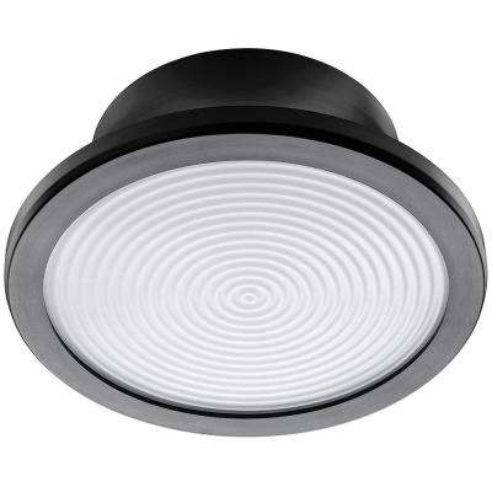 Lightbulb Replacement Fixture 7 in. Round Matte Black 60 Watt Equivalent Integrated LED Flushmount (Bright White)