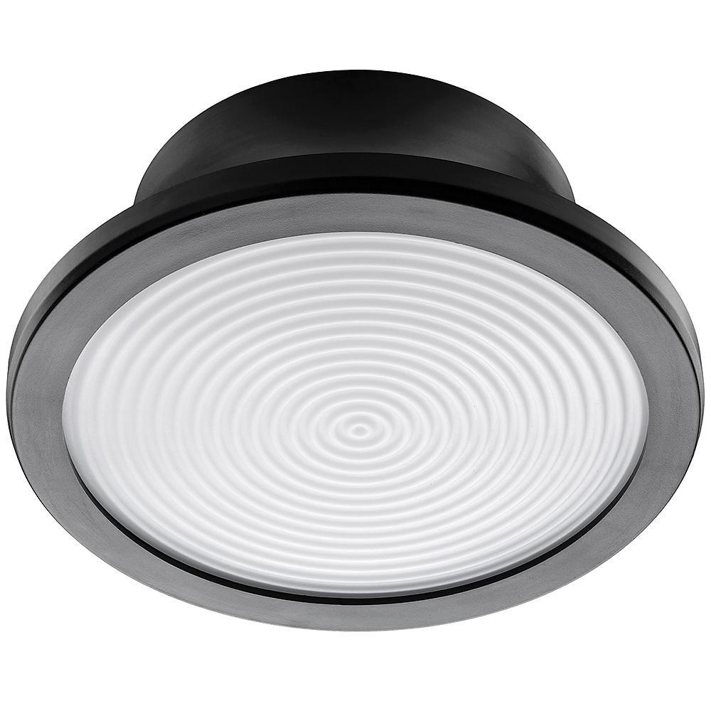 Lightbulb Replacement Fixture 7 in. Round Matte Black 60 Watt Equivalent Integrated LED Flush Mount (Bright White)