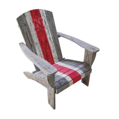 U Nebraska Wood Adirondack Chair