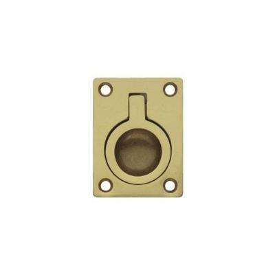 2.95 in. Polished Gold Recessed Pull