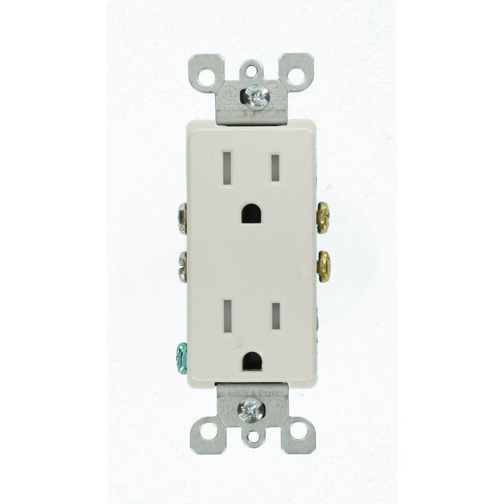 white leviton outlets receptacles m22 t5325 wmp 64_1000 leviton dimmers, switches & outlets electrical the home depot leviton 5245 wiring diagram at readyjetset.co