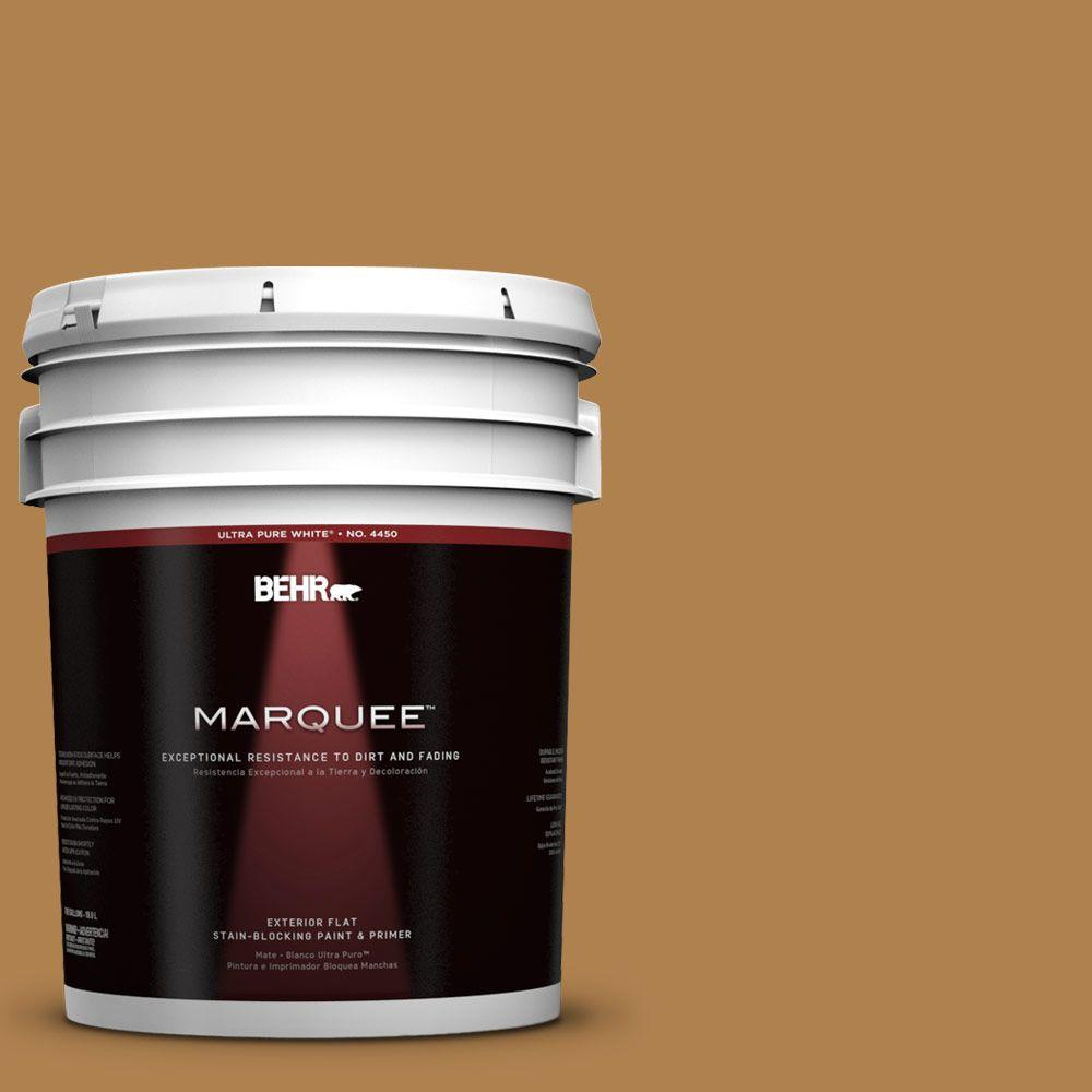 BEHR MARQUEE 5-gal. #UL160-2 Gold Plated Flat Exterior Paint
