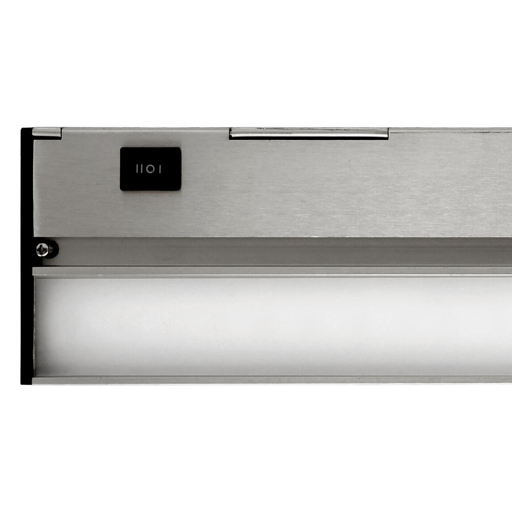 NUC 12 in. LED Nickel Under Cabinet Light with Hi Low