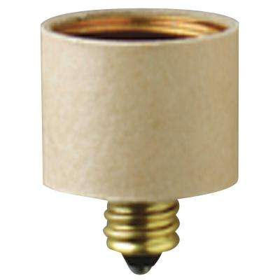 Candelabra to Medium Base Socket Adapter