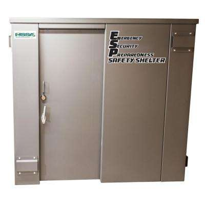 ESP 7 ft. x 9.5 ft. x 6.66 ft. Metal Tornado Safety Shelter