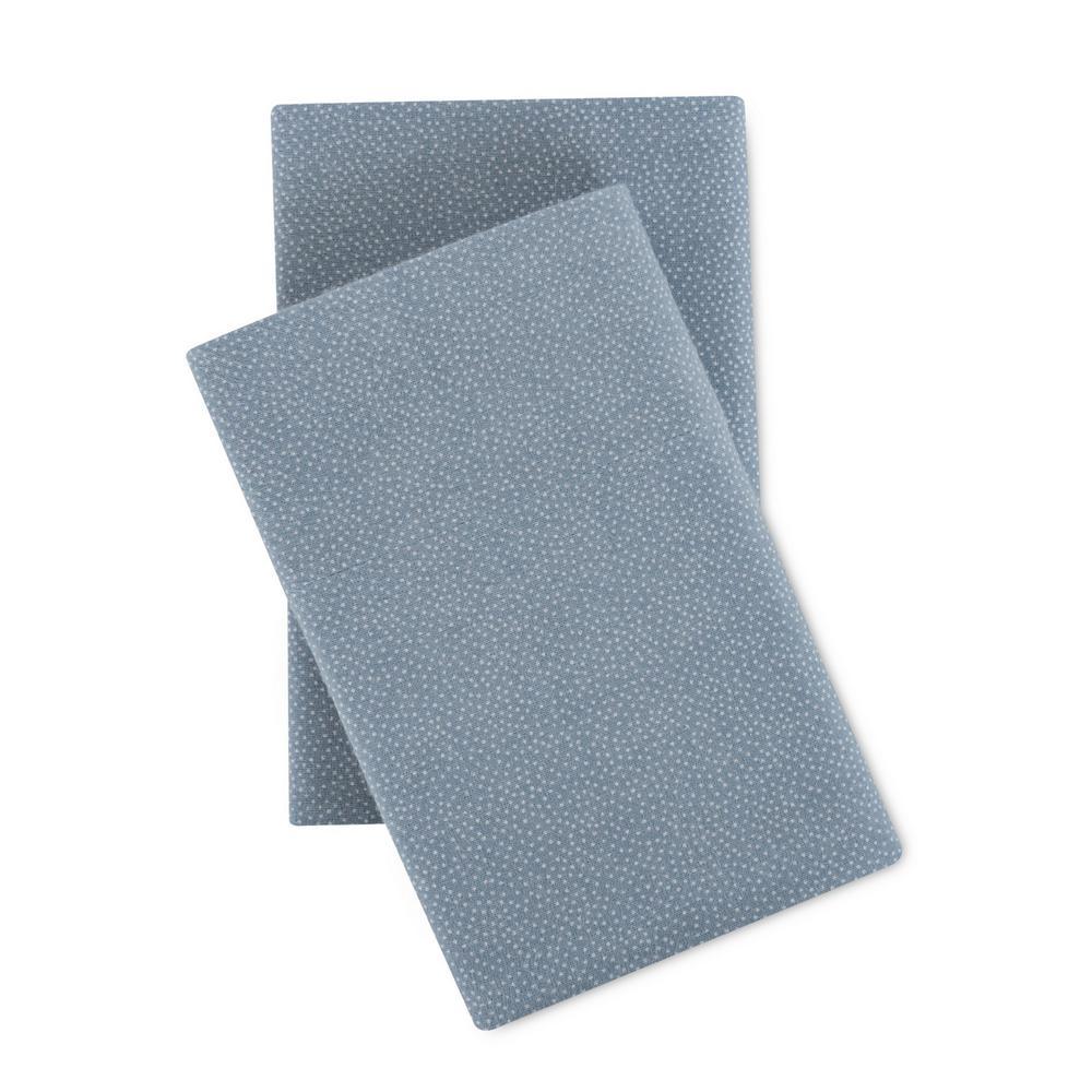 Modernist Small Dot Cotton-Flannel Blue Queen Sheet Set SSRT03RCFSTDB