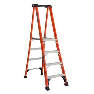 Louisville Ladder 4 ft. Fiberglass Pinnacle PRO Platform Ladder with 375 lbs.... by Louisville Ladder