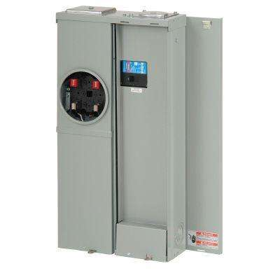 CH 200 Amp No Distribution EUSERC Main Breaker Meter Breaker Top Bottom Feed with Surface Cover