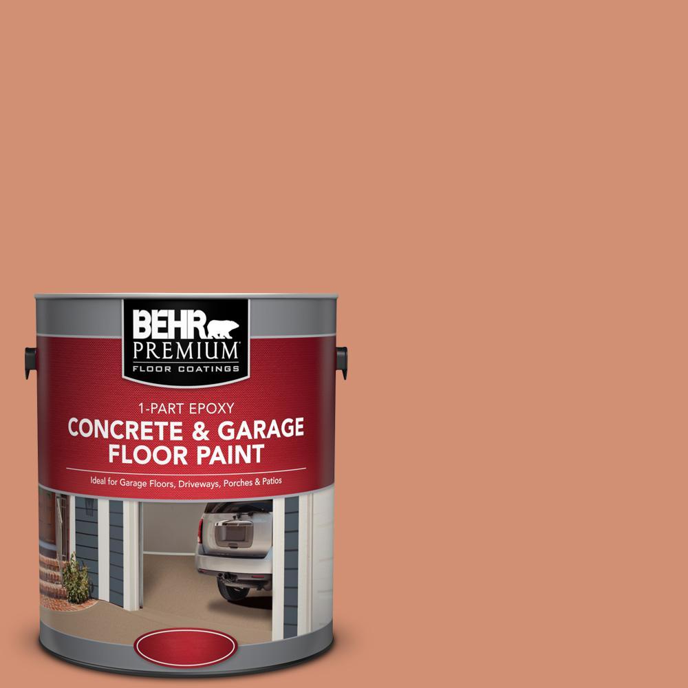 1 gal. #M200-5 Terra Cotta Clay 1-Part Epoxy Satin Interior/Exterior Concrete and Garage Floor Paint