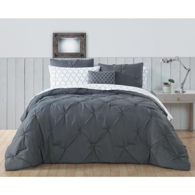 Bradford 6-Piece Grey Twin Bed in a Bag Set