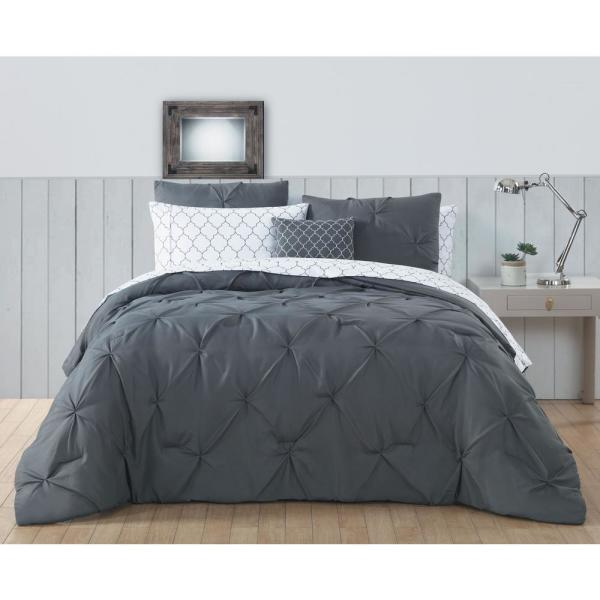 Avondale Manor Bradford 6-Piece Gray Twin Bed in a Bag BDF6BBTWINGHGY